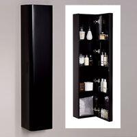 Modern 1500mm Black Shelf Wall Mounted Bathroom Cabinet Storage Unit Cupboard