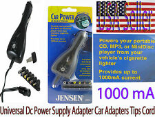Jensen Car Auto Vehicle DC Power Adapter NEW! Multi Voltage / Tip 1000mA Current