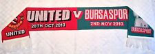 Man Utd v Bursaspor Scarf 2010-2011 Champions League Manchester United