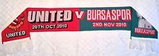 Man Utd v Bursaspor Scarf 2010-2011 Champions League Manchester United