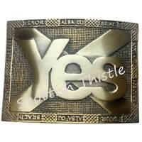 Scottish Kilt Belt Buckle Saltire Yes Scotland Antique Finish/Highland Buckles