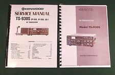 Kenwood TS-930S Instruction & Service Manuals: Card Stock Covers & 32 lb Paper!
