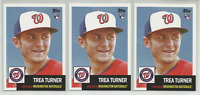 Trea Turner Rookie RC Lot 3 Cards 2016 Topps Archives #68 Washington Nationals