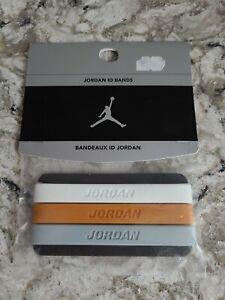 JORDAN WRIST ID BANDS BANDEAUX JUMPMAN BALLER sillicone White Orange Grey
