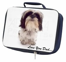 Shih-Tzu 'Love You Dad' Navy Insulated School Lunch Box Bag, DAD-124LBN