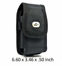 Vertical Rugged Case with Metal Belt Clip Belt Loop Holster 6.60 x 3.46 x 0.50