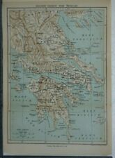 1906 Vintage Stanford Map of Ancient Greece with Thessaly