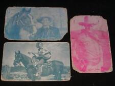 "3 Antique Cowboy Cards Monte Hale, Gene Autrey & ""Shoots from the Hip"""