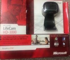 BN Boxed Microsoft LifeCam HD-3000 USB WebCam 16:9 Widescreen 720P HD Model