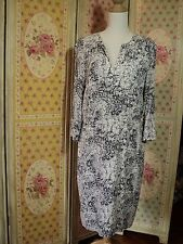 SALE sportscraft  paisley floral print crepe dress  blue white