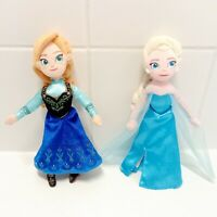 "Disney Frozen Anna & Elsa Plush Stuffed Dolls 9"""