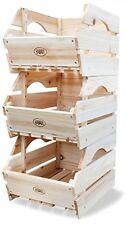 Boîte de Rangement Rack Fruits Légumes stand unité Paniers Rangement Jouets en bois cage