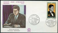 GABON 1964  JOHN F. KENNEDY  MEMORIAL FIRST DAY COVER