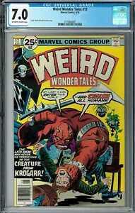 Weird Wonder Tales #17 CGC 7.0 (Aug 1976, Marvel) Frank Giacoia cover, Krogarr