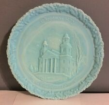 """1972 FENTON  Christmas In America No.3 Plate """"The Two Horned Church"""" Mint"""