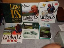 Vintage PC Computer Game Manuals Lot 1 - Links LS PLUS Golf Game Large Lot