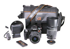 Sony A55 DSLR Camera Dual Lens Kit Sony DT 18-55mm & DT 55-200mm
