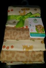 DISNEY BABY THE LION KING UNDER THE SUN SIMBA 4 FLANNEL RECEIVING BLANKETS.