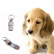 Anti-Lost Puppy Kitten ID Stainless Steel Tag Name Address Barrel Tube US New