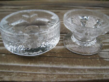 Bo Konst Sweden Vintage Glass Candle Holders Set 2 Swedish Modern Tapers