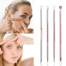 4pcs Pimple Blemish Blackhead Comedone Acne Extractor Needles Remover Tools V5Z4