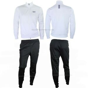 Emporio Armani EA7 Tracksuit pants Sweatshirt Man 8npv71 Pj08z 22ba white black