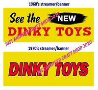 Dinky Toys Vintage 1960's & 1970's Shop Display Streamer Banner Poster Sign