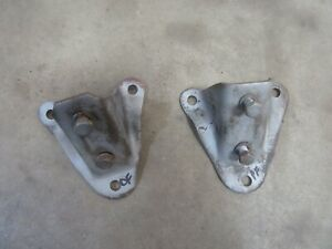 1958 Ford Ranch Wagon six cylinder engine motor mount bracket pair set parts