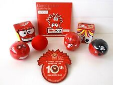 More details for comic relief - red nose day - 6 noses / 1 pin badge / 1 gareth gates cd - bundle
