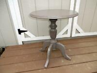 Italian Casa Florentina Ballard Designs Gray Painted Distressed Round Table #1