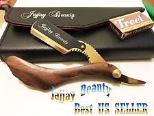ROSE WOOD BARBER CUT THROAT STRAIGHT SHAVING RAZOR SHAVETTE RASOI RASOIRS