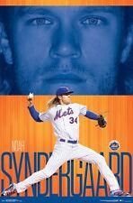 NOAH SYNDERGAARD - NEW YORK METS POSTER - 22x34 - MLB BASEBALL 15524