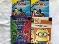 NEW Mickey Despicable Me PJ Masks Valentines Cards Lot Of 4
