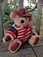 """Brass Button Pickford Bears Cody the United States Bear 9"""" Bear of Friendship"""