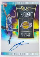 2018-19 Select In Flight Signatures Prizms Tie Dye Brandon Ingram Auto #6/25