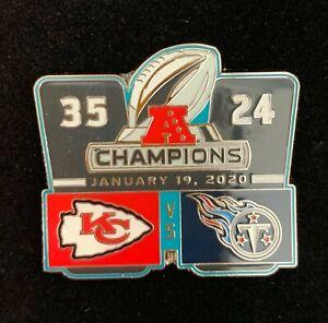 SUPER BOWL 54 PIN AFC DUEL SCORE CHAMPIONS KANSAS CITY CHIEFS WEST DIVISION NFL