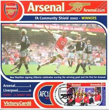 Arsenal 2002-03 Liverpool (Charity Shield) Football Stamp Victory Card #201