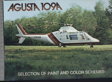 (192) Brochure hélicoptère Aircraft Helicopter Agusta 109A