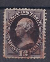 SCARCE Red FANCY CANCEL   US# 162 12c Henry Clay Well centered