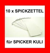 10 x PAPIERROLLE ZUM AUFROLLBAREN SPICKER KULI - SCHUMMEL KUGELSCHREIBER !