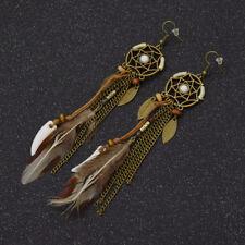 Dream Catcher Feather Pendant Earrings Ear Studs Women Vintage Jewelry Gifts