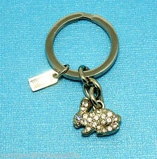 NEW Coach RARE Pave Swarovski Crystal Rabbit Crystal Bunny Key Chain Ring  92413