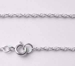 925 Sterling Silver Prince of Wales Rope 1.8mm Bracelet Necklace Chain ALL SIZES