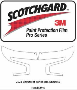 3M SCOTCHGARD PRO Paint Protection Film Chevy Suburban Tahoe 2021+ Headlights
