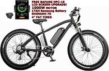 1000W Electric Fat Snow Tire Mountain Bike Bicycle Ebike 17Ah Samsung Bafang Lcd