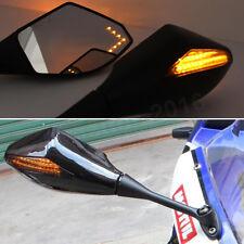 BLACK LED TURN SIGNAL SIDE MIRRORS For HONDA CBR600 F4 1999-2000 F4I 2001-2002