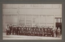 Large 1900 Photo of San Francisco Street Car Employees in Uniforms on Haight St