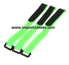 Correa sujeción baterías lipo verde 26cm 1/8 Scale (3 Uds.) QR-154G