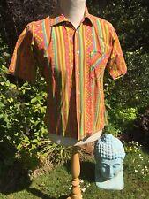 "Revelation Reed Medium 42"" Chest Vintage Retro Short Sleeved Cotton Shirt"