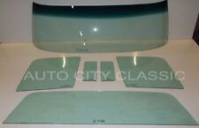 1959 FORD RANCHERO WINDSHIELD VENTS DOORS & BACK GLASS GREEN TINT